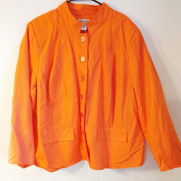 🏔️ 5/$25 Jessica London Orange Blazer Jacke Top